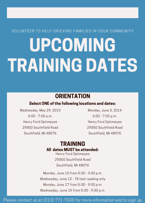 MAY VOLUNTEER TRAINING 2019